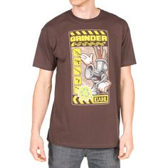 Men's 100% premium cotton chocolate brown tee with screenprint on front.