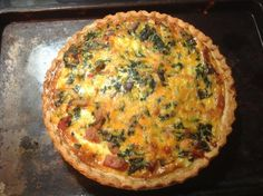 Easy Cheesy Spinach and Ham Quiche Pie. Photo by Chief Chef Jane