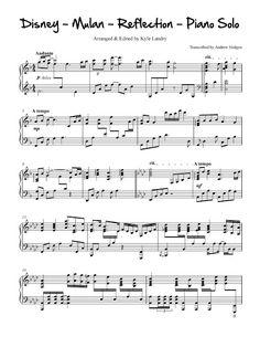 Mulan, Reflections - Kyle Landry Arrangement free piano sheet music.