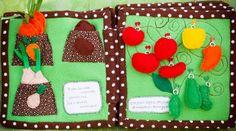 Paper and cotton: Vegetable Garden Quiet Book.