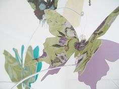 Butterfly Mobile Paper Art  Hanging 3D Nursery by SimplyChicLily, $40.00