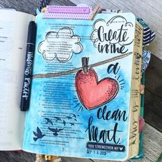 Bible Journaling by Kristen Wolbach Niv Bible, Bible Verse Art, Faith Bible, Bible Prayers, Scripture Study, Bible Scriptures, Bible Drawing, Bible Doodling, Bibel Journal