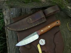 Hand forged bushcraft knife for sale! - (Woodsrunner 2)