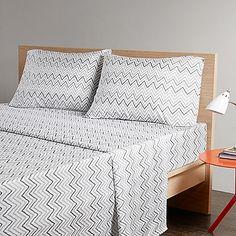 Intelligent Design Multicolor Chevron Printed Sheet Set