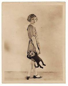 Viola Dana, with Krazy Kat Doll