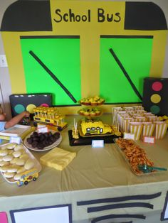 Pajama mama :  SCHOOL BUS PARTY   Keagan turned TWO this past Saturday and we had...
