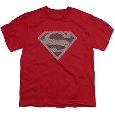Superman/Elephant Shield Short Sleeve Youth 18/1 in
