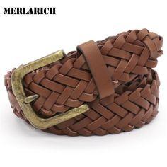 MERLARICH Brand Knitted PU Belts Military Mens Belts Luxury Jeans Cowboy Women Belt Men Ceinture Dress Designed Freeshipping