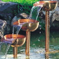 Unique Arts - Cascading Copper Fountain with Pump in Copper Fountains