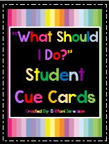 "Visual Aides to Minimize ""What Should I Do?"" Questions in the Classroom http://www.teacherspayteachers.com/Store/MadForKinder"