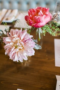 Single peonies and dahlias. The Perfect Petal.  - photo by http://juliecate.com/