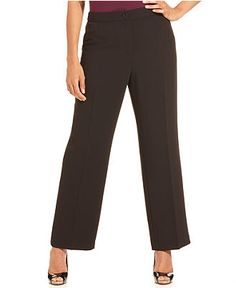 Jones New York Collection Plus Size Pants, Straight-Leg Trousers - Macy's