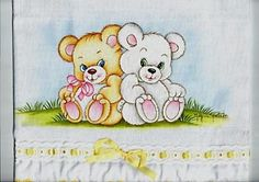 Fralda decorada com pintura Needle Felted Animals, Felt Animals, Applique Designs, Embroidery Designs, Teddy Bear Drawing, Coloring Books, Coloring Pages, Fancy Letters, Bear Illustration