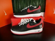 Nike Air Force 1 Low Retro CHI TOWN CHOOSE 845053 001 Bred Chicago Red White
