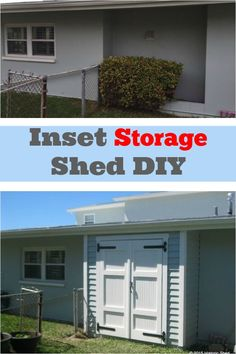 Add a storage shed to a previously unused space. http://www.hometalk.com/l/WCV