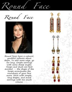 other earrings' shape ideas for round face :) {i wear studs so much, maybe that's why my face looks super round?}
