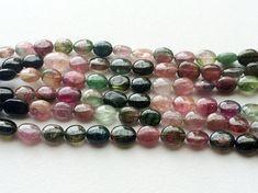 Multi Tourmaline Oval Beads Multi Tourmaline by gemsforjewels