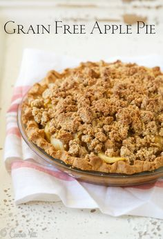 Grain Free Apple Pie via DeliciouslyOrganic.net (Paleo, Gluten Free, Primal)