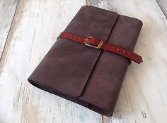 Refillable Genuine Leather Book Cover Handmade Notebook Journal Case