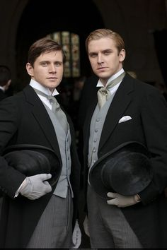 Downton Abbey - Dan Stevens and Allen Leech. perfection --- so sad for next season as these two made a fantastic alliance... we'll see what will happen!!!