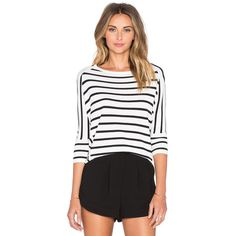 J.O.A. Striped Dolman Top Tops (4,005 INR) ❤ liked on Polyvore featuring tops, fashion tops, striped dolman top, white dolman top, striped top, stripe top and dolman top