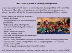 Learning Through Music: the many benefits of music and movements for preschoolers.