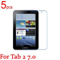 5pcs Clear/Matte/Nano LCD Tablet Screen Protectors Cover for Samsung TAB 2 3 lite 7.0 P3100 P3110 T110 T111 T116 Film + Cloth #Affiliate