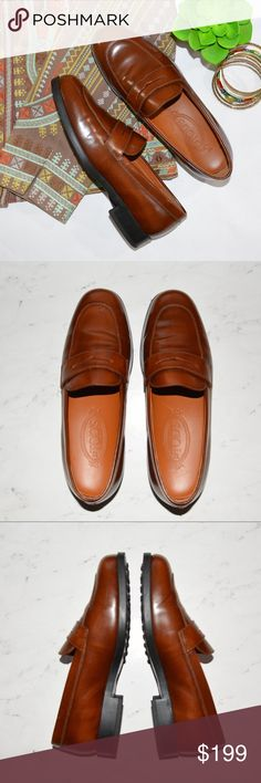 "J.P. Tod's Women's Leather Brown Loafers Shoes This is a pair of Authentic J.P. Tod's Women's Leather Loafers. • Size: 7 • Color: Chestnut Brown • New Without Tags • Not in Original Box  • Never Worn • Very well made • Approx Measurements: Heel Height: 1"". Tod's Shoes Flats & Loafers"