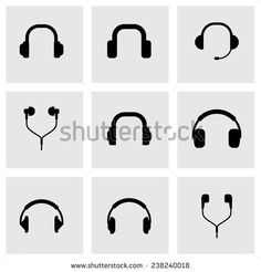 unique audio headphone icons logos - Google Search