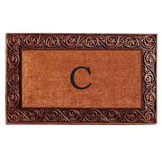 Momentum Mats Prestige Bronze Monogram Doormat (Letter C), Natural (Coir)