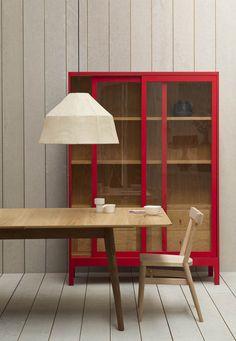 Joyce cabinet, Harper table and Soren lamp. Pinch, London.