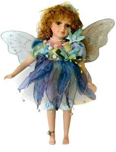 Fairy Porcelain Dolls-Fairy Dolls-Angel Porcelain Dolls-FAIRY Porcelain Doll By Cathay Collection-Madelka