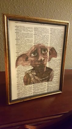 she seriously only spent 599 on this harry potter dobby wall art love love love