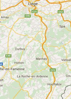 Autoroute en motorroute Ourthe langs Hotton, La Roche, Durbuy en Marche