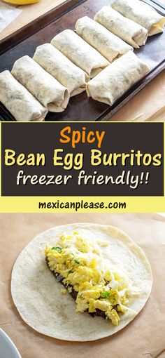 Make a big batch of these Spicy Bean and Egg Burritos and you'll get some free meals over the next couple weeks.   The key is to load up the beans with tons of flavor -- I used 3 chipotles for this batch but feel free to use less for a milder batch.  Or more if you want :)  #breakfast #burrito