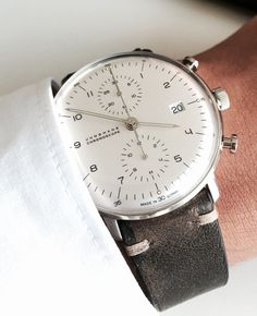 Top 50 luxury watch brands in the world - Junghans Max Bill Chronoscope . - Top 50 luxury watch brands in the world – Junghans Max Bill Chronoscope … – WooHoo - Amazing Watches, Beautiful Watches, Cool Watches, Stylish Watches, Luxury Watches For Men, Junghans Max Bill Chronoscope, Der Gentleman, Timex Watches, Luxury Watch Brands