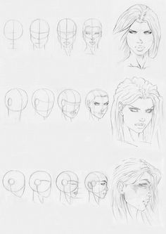 marvel style head drawing by ~ with thanks to Rofelrolf on deviantART Resources for Art Students / Art School Portfolio Work at CAPI ::: Create Art Portfolio Ideas at , How to Draw Faces Drawing Lessons, Drawing Techniques, Cool Drawings, Drawing Sketches, Drawing Poses, Sketching, Cartoon Sketches, Kunst Portfolio, Portfolio Ideas