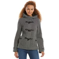 Sebby Hooded Fleece Toggle Peacoat - Women's