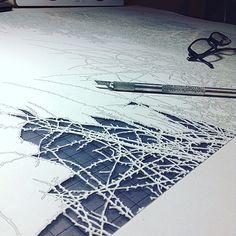 Papercut in progress Paper Cutting, Abstract, Artwork, Summary, Work Of Art, Auguste Rodin Artwork, Artworks, Illustrators