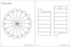Circus Tent | Printable Templates & Coloring Pages | FirstPalette.com