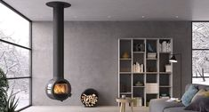 Looking for a designer Nordic wood burning or multi-fuel stove? Stovax are the exclusive distributor of Dovre, Lotus, Varde and Nordpeis stoves in the UK. Stove Fireplace, Fireplace Design, Norman Foster, Plywood Furniture, Contemporary Wood Burning Stoves, Stove Installation, Interior Architecture, Interior Design, Interior Ideas