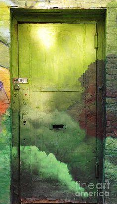 Green Door Photograph  - Green Door Fine Art Print