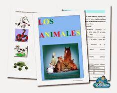 RECURSOS PRIMARIA   Fichas sobre los animales para 1º y 2º de Primaria