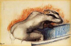 Woman washing in the bath 1892 Edgar Degas