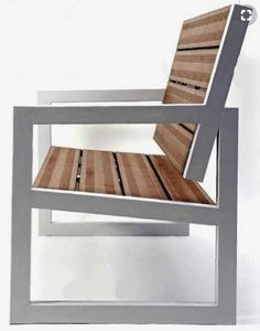 18 Awesome Homemade Sofa Ideas You Can Try Welded Furniture, Iron Furniture, Steel Furniture, Industrial Furniture, Metal And Wood Bench, Metal Chairs, Wood Slats, Furniture Projects, Furniture Decor