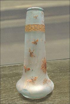 """Daum - """"Bouquet de marguerites"""" (Musée des Beaux-arts de Lorraine)"""