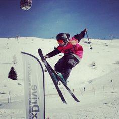 Nose grab in the park Courchevel #freeskiing #freeskier #freeski #skier #skiing #snow #mountain #extreme #shefreeskis #blonde #volkl #salomon #ehoto #goshred #dropcliffsnotbombs #hemelfreestyle #thesnowcentre #outdoorwomen #france #park #slopestyle #rails #jibbing #kickers #jumps #grabs