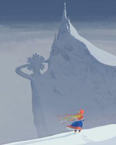 Visual Development from Frozen by Mike Gabriel