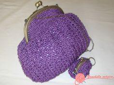 Bolso de fiesta en ganchillo lila (6)