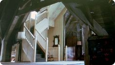 practical magic house - Google Search Looking at the stairs from the attic